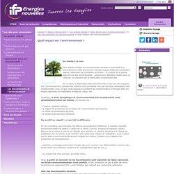4c- Bilan environnemental ...Les grands débats sur l'énergie, IFPEN