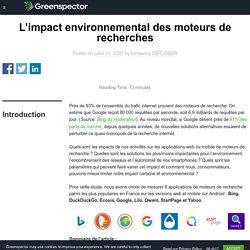 L'impact environnemental des moteurs de recherches - Greenspector