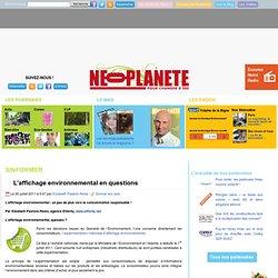 L'affichage environnemental en questions