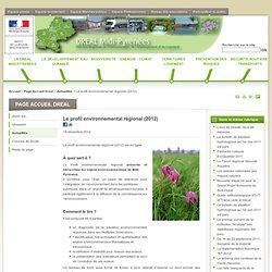 Le profil environnemental régional (2012) - DREAL Midi-Pyrénées