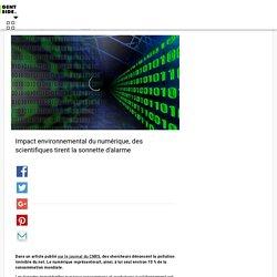 Impact environnemental du numérique, des scientifiques tirent la sonnette d'alarme
