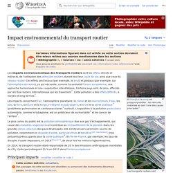 Impact environnemental du transport routier