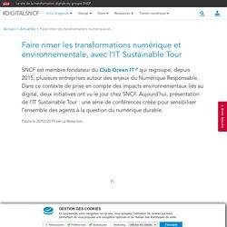 Faire rimer les transformations numérique et environnementale, avec l'IT Sustainable Tour
