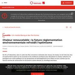 Chaleur renouvelable : la future réglementation environnementale refroidit l'optimisme