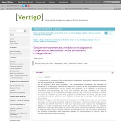 Éthique environnementale, Dossier de revue
