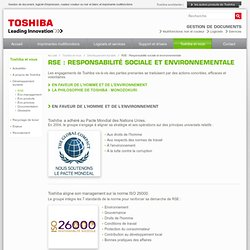 RSE : Responsabilité sociale et environnementale