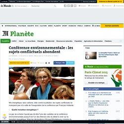 Conférence environnementale : les sujets conflictuels abondent