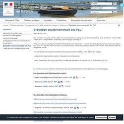 Evaluation environnementale des PLU / Urbanisme / Aménagement du territoire, construction, logement / Politiques publiques / Accueil