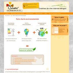 Notre charte environnementale - Agence de créations de sites Internet éthiques en Alsace : Alsétic