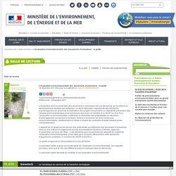 L'évaluation environnementale des documents d'urbanisme : le guide - Ministère de l'Environnement, de l'Energie et de la Mer