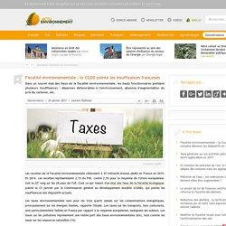 Fiscalité environnementale: le CGDD pointe les insuffisances françaises