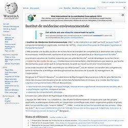 Institut de médecine environnementale