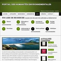 Théorie politique environnementale - Portail des Humanités environnementales