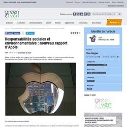 Responsabilités sociales et environnementales : nouveau rapport d'Apple