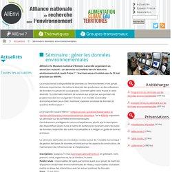 ALLENVI 01/10/14 Compte-rendu du séminaire sur les donnees environnementales (437 Ko)