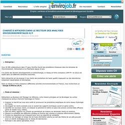 Chargé d'affaires dans le secteur des analyses environnementales H/F - Envirojob.fr