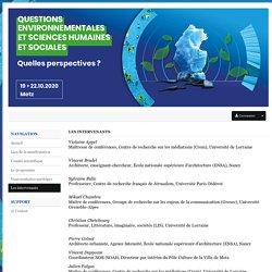 Questions environnementales et sciences humaines et sociales. Quelles perspectives ? - Sciencesconf.org