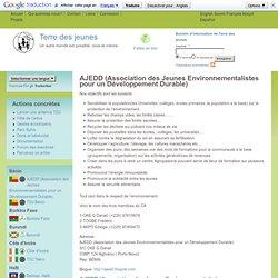 AJEDD (Association des Jeunes Environnementalistes pour un Développement Durable)