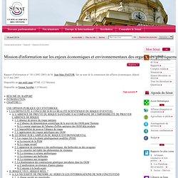 SENAT 20/05/03 Rapport d'information : Quelle politique des biotechnologies pour la France ? Mission d'information sur les enjeu