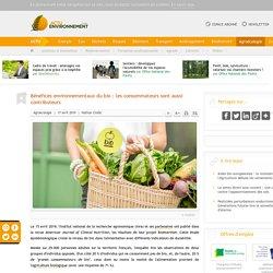 Bénéfices environnementaux du bio: les consommateurs sont aussi contributeurs