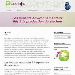 Les impacts environnementaux liés à la production du silicium – EcoInfo