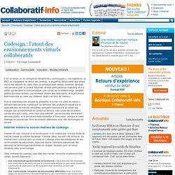 Codesign : l'atout des environnements virtuels collaboratifs