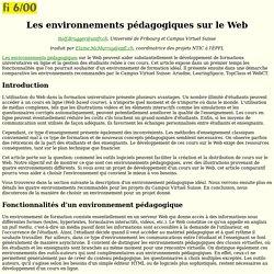 Les environnements p dagogiques sur le Web
