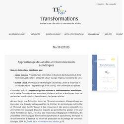 No 19 (2019): Apprentissage des adultes et Environnements numériques