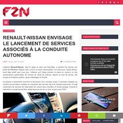 Renault-Nissan envisage le lancement de services associés à la conduite autonome