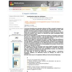 [220] - Questions envisageables pour l'oral du bac: l'argumentation