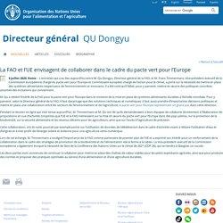 FAO 06/07/20 La FAO et l'UE envisagent de collaborer dans le cadre du pacte vert pour l'Europe