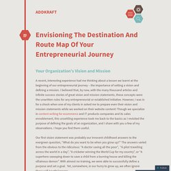 Envisioning The Destination And Route Map Of Your Entrepreneurial Journey