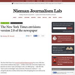 The New York Times envisions version 2.0 of the newspaper » Niem