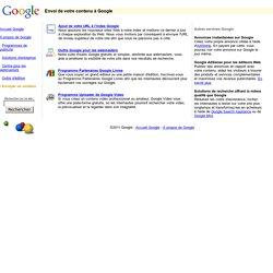 Envoi de votre contenu à Google