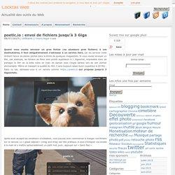 envoi de gros fichiers sur internet : jusqu'à 3 Giga