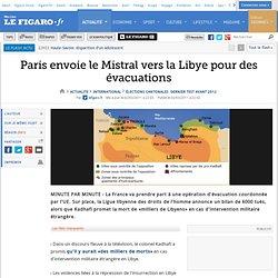 Paris envoie un porte hélicoptère en Lybie..