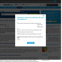 Est-ce utile d'envoyer une candidature spontanée?