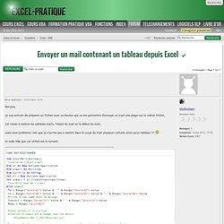 Envoyer un mail contenant un tableau depuis Excel