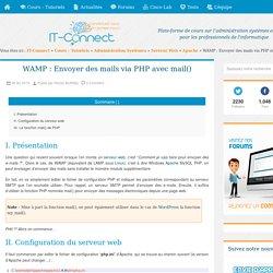 WAMP : Envoyer des mails via PHP avec mail()