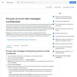 Envoyer et ouvrir des messages confidentiels - Android - Aide Gmail