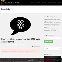 Envoyer, gérer et recevoir des SMS avec votre Raspberry Pi