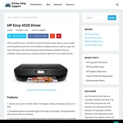 HP Envy 4520 Driver Download - Printer Help