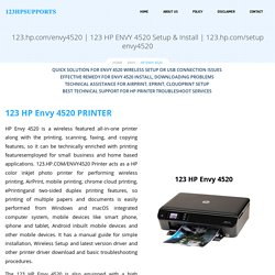 Call Our Expert Team To Solve Your HP Envy 4520 Printer Issues