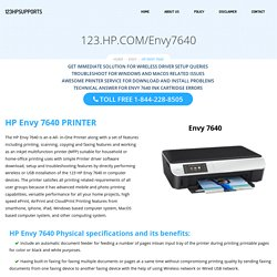 123.hp.com/Envy7640 - Easy Setup, Install for HP ENVY 7640 Printers