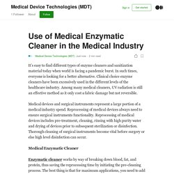 Use of Medical Enzymatic Cleaner in the Medical Industry