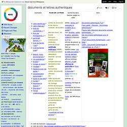 documents et lettres authentiques