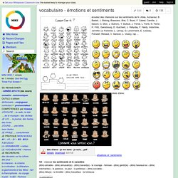 vocabulaire - émotions et sentiments