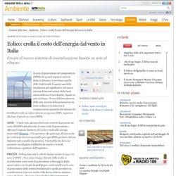 Dati dell'energia dal vento in Italia
