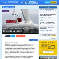 Eolien : Avis favorable pour le champ de Dieppe-Le Tréport