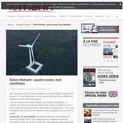 Éolien flottant : quatre zones, huit candidats